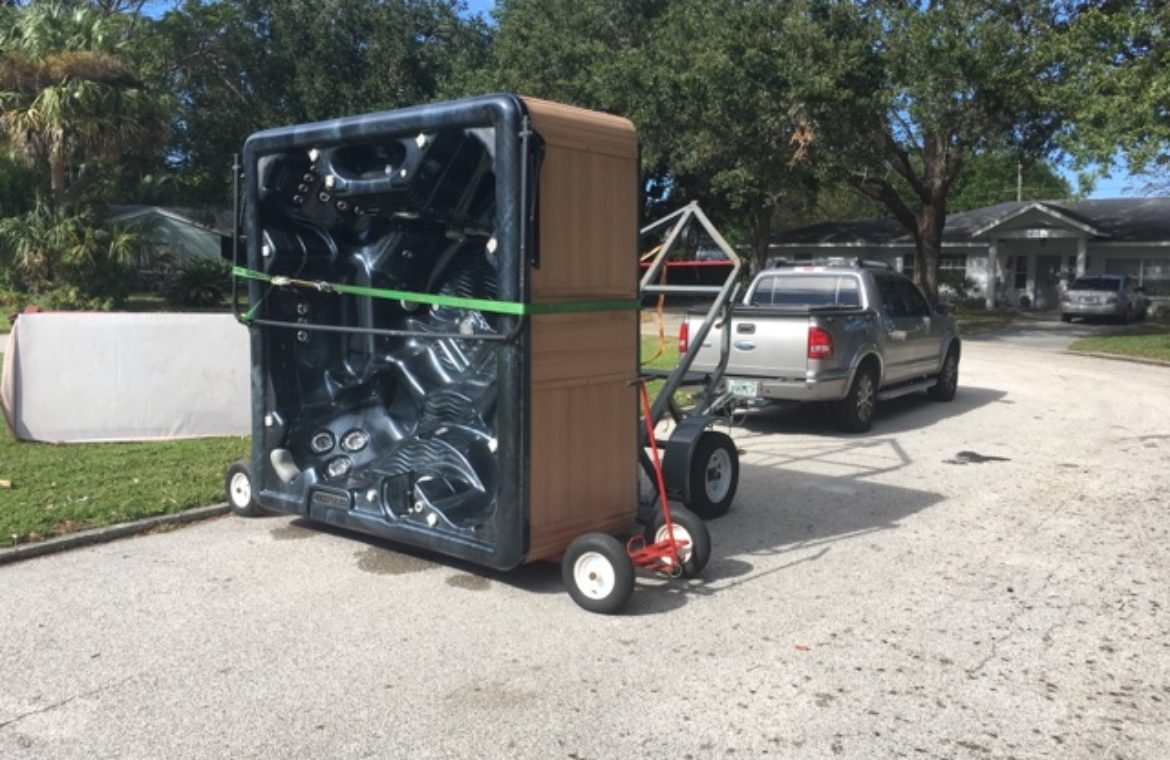 Efficient and Safe Hot Tub Delivery